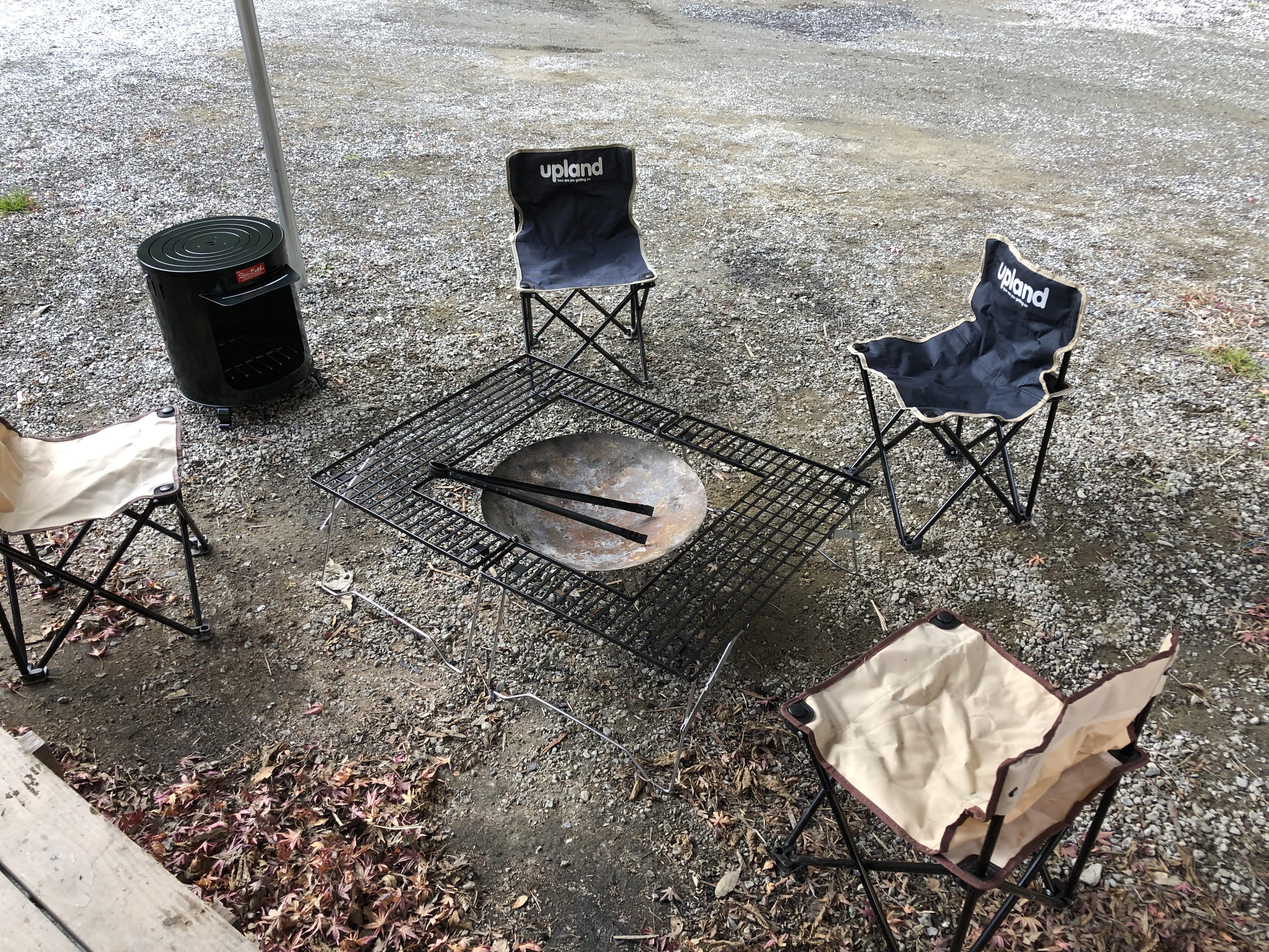 ぷちグランピングサイト、焚き火関連備品強化