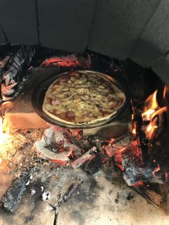 ピザ窯利用予約はじめました。
